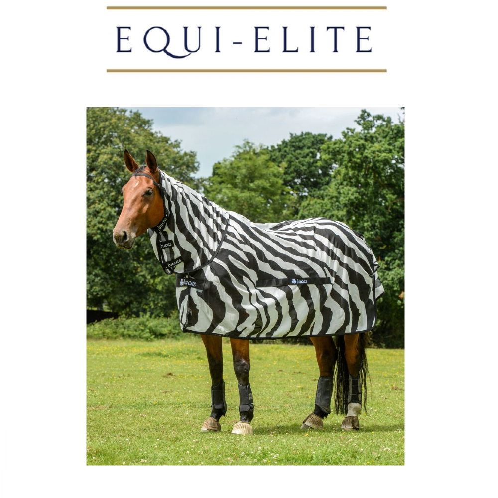 Bucas Buzz Off Zebra Fly Rug
